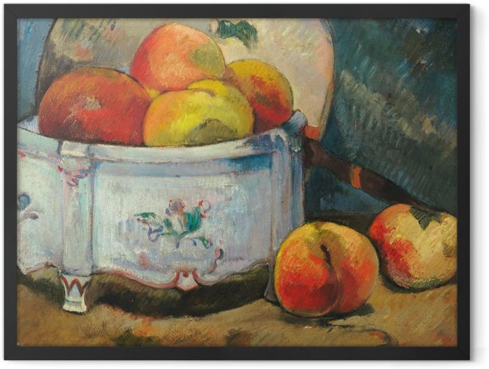 Gerahmtes Poster Paul Gauguin - Stillleben mit Pfirsichen - Reproduktion