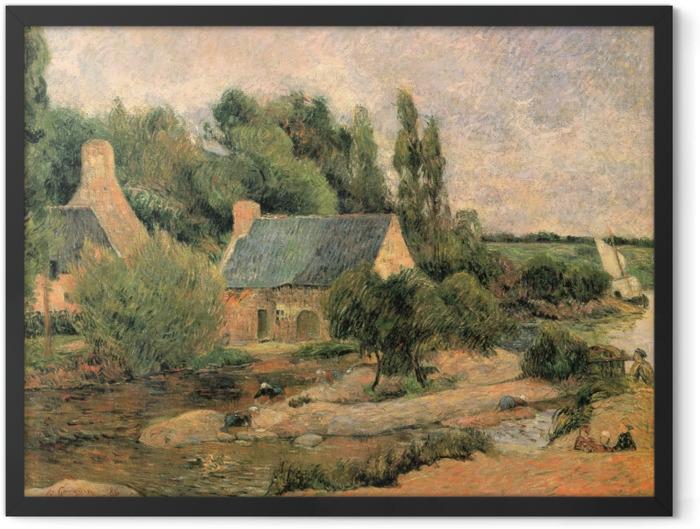 Gerahmtes Poster Paul Gauguin - Die Wäscherinnen von Pont-Aven - Reproduktion