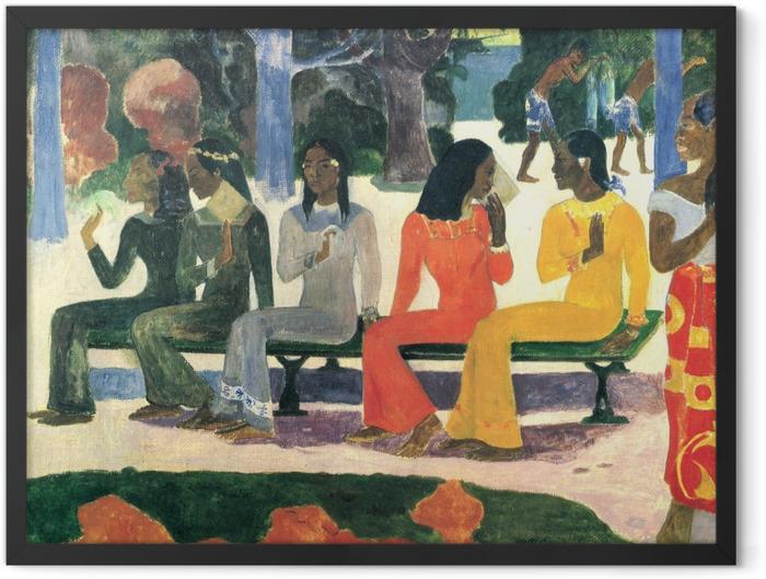 Plakat w ramie Paul Gauguin - Ta Matete (Targ) - Reprodukcje
