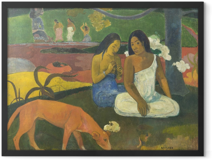 Poster en cadre Paul Gauguin - Arearea - Reproductions