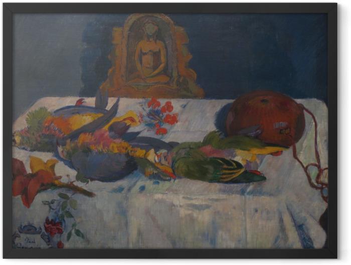 Gerahmtes Poster Paul Gauguin - Stillleben mit Papageien - Reproduktion