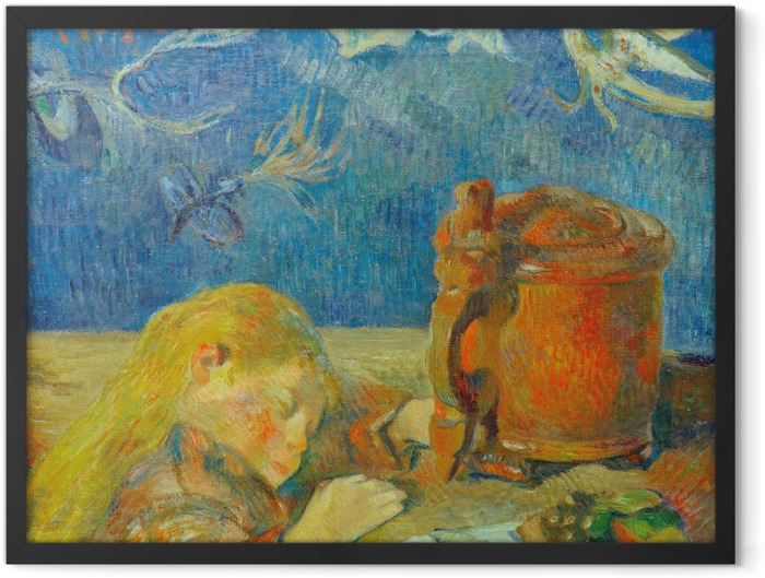 Poster en cadre Paul Gauguin - Portrait de Clovis Gauguin (L'enfant endormi) - Reproductions