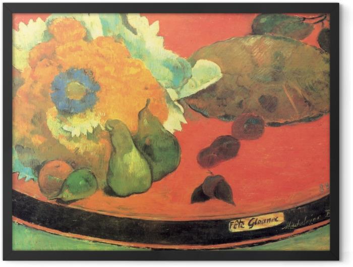Poster en cadre Paul Gauguin - Nature morte Fête Gloanec - Reproductions