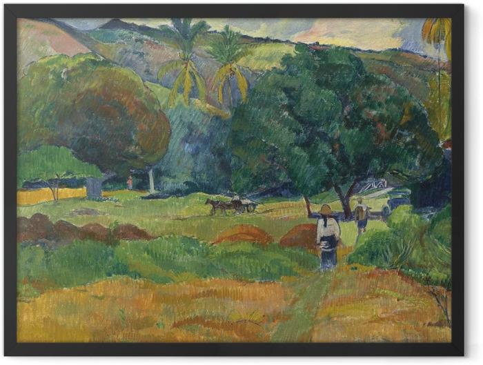 Poster en cadre Paul Gauguin - La vallée - Reproductions