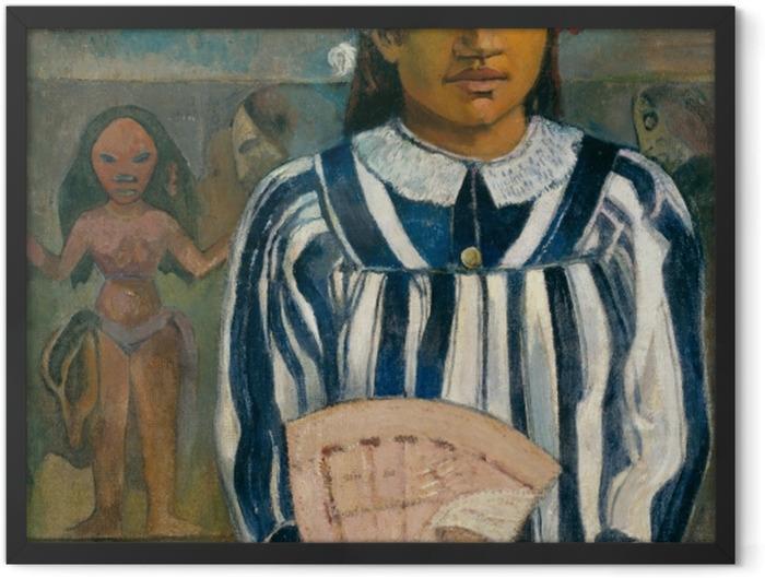 Poster en cadre Paul Gauguin - Merahi metua no Tehamana (Teha'amana a plusieurs parents) - Reproductions