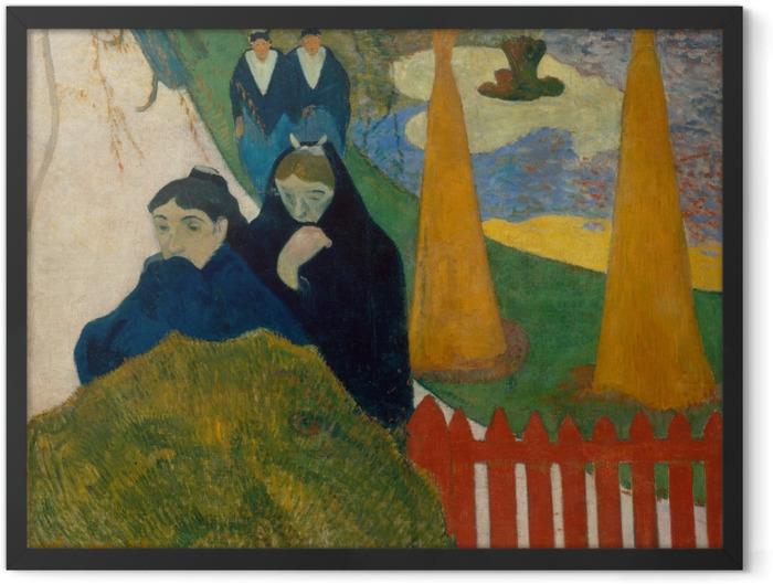 Gerahmtes Poster Paul Gauguin - Arlésiennes (Mistral) - Reproduktion