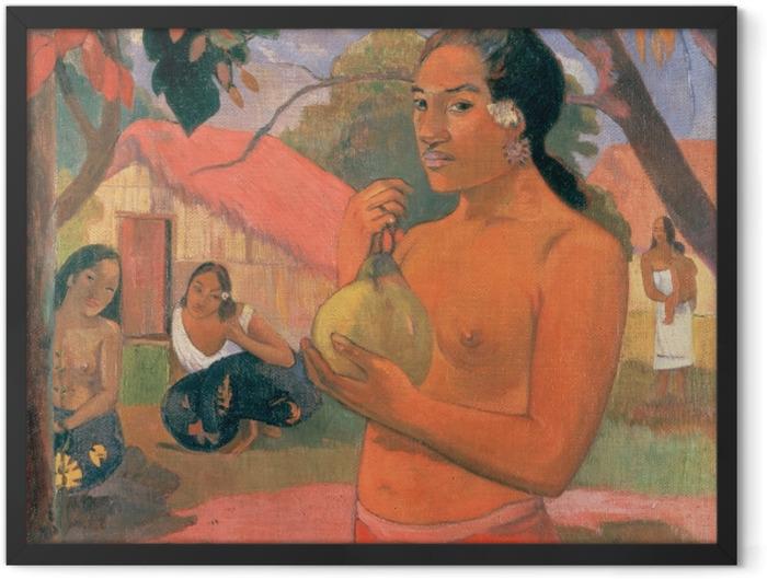 Poster en cadre Paul Gauguin - Ea Haere ia oe (Femme Mango) - Reproductions