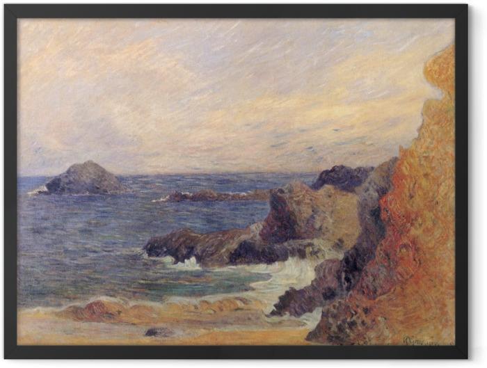 Plakat w ramie Paul Gauguin - Nadmorskie skały - Reprodukcje