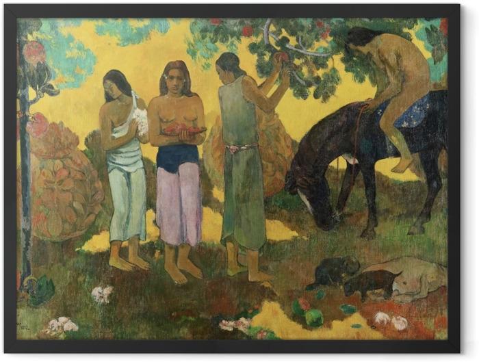 Poster en cadre Paul Gauguin - Rupe Rupe (La cueillette des fruits) - Reproductions