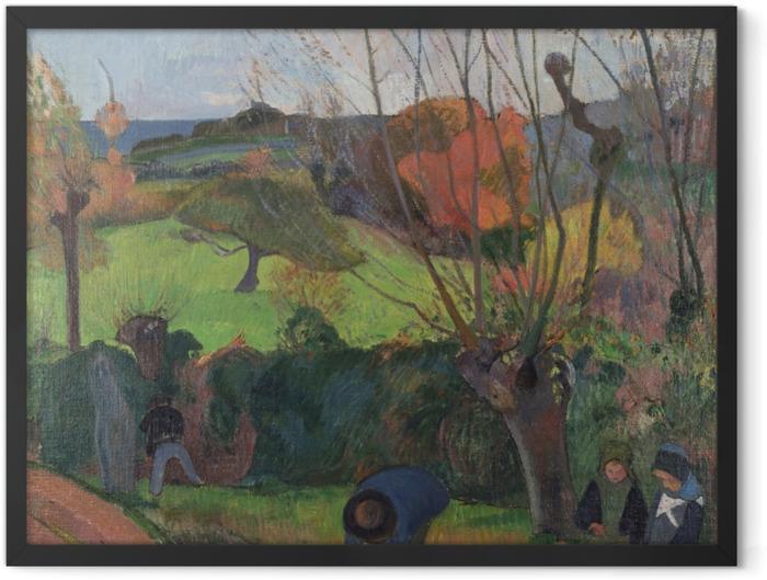 Gerahmtes Poster Paul Gauguin - Die Weiden - Reproduktion