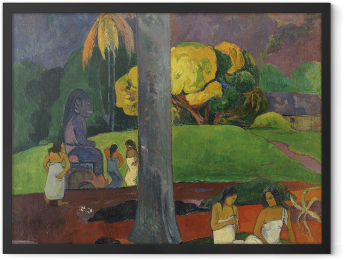 Gerahmtes Poster Paul Gauguin - Mata mua (in alten Zeiten) - Reproduktion