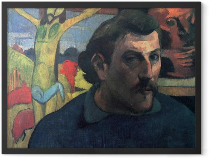Plakat w ramie Paul Gauguin - Żółty Chrystus - Reprodukcje