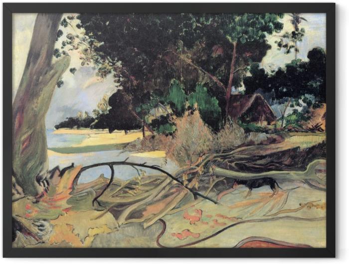 Plakat w ramie Paul Gauguin - Te burao (Krzew hibiskusa) - Reprodukcje