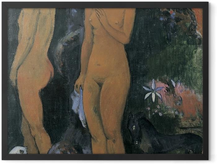 Plakat w ramie Paul Gauguin - Adam i Ewa - Reprodukcje