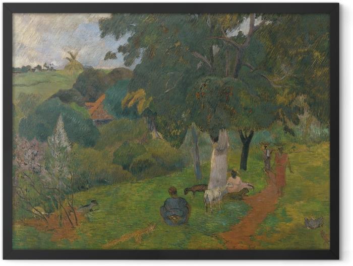 Gerahmtes Poster Paul Gauguin - Landschaft auf Martinique - Kommen und Gehen - Reproduktion