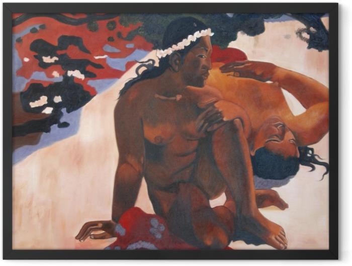 Poster en cadre Paul Gauguin - Aha oe feii? (Eh quoi ! tu es jalouse ?) - Reproductions