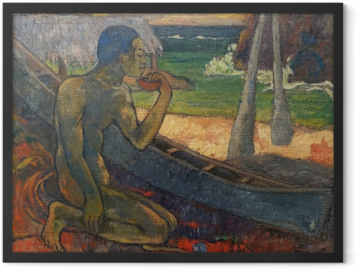 Plakat w ramie Paul Gauguin - Ubogi rybak - Reprodukcje