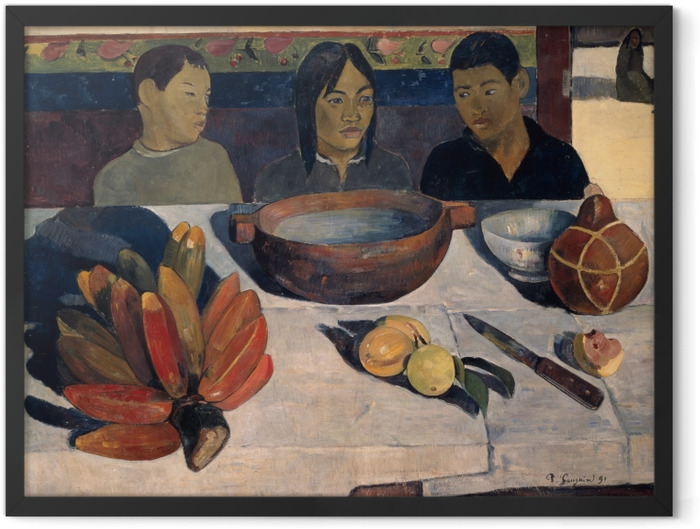 Plakat w ramie Paul Gauguin - Posiłek (Banany) - Reprodukcje