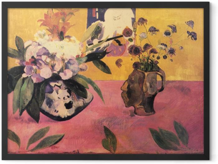 Plakat w ramie Paul Gauguin - Kwiaty i japońska książka - Reprodukcje