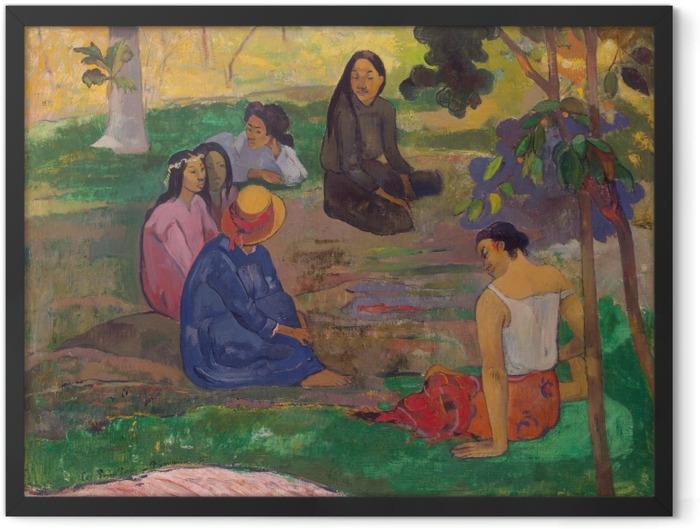 Plakat w ramie Paul Gauguin - Rozmowa - Reprodukcje
