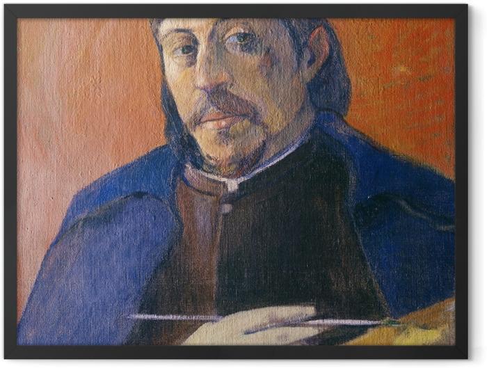 Plakat w ramie Paul Gauguin - Autoportret z paletą - Reprodukcje