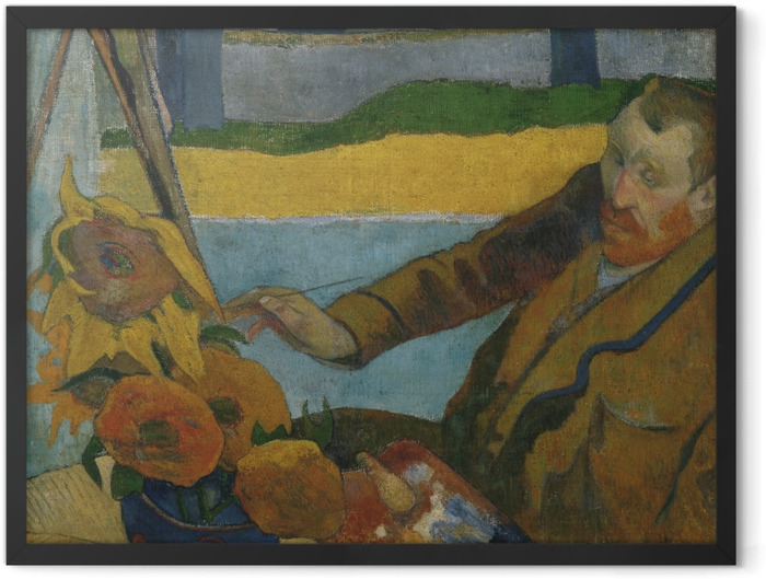 Poster en cadre Paul Gauguin - Van Gogh peignant « Tournesols » - Reproductions