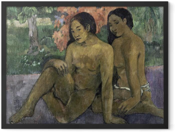 Poster en cadre Paul Gauguin - Et l'or de leur corps - Reproductions
