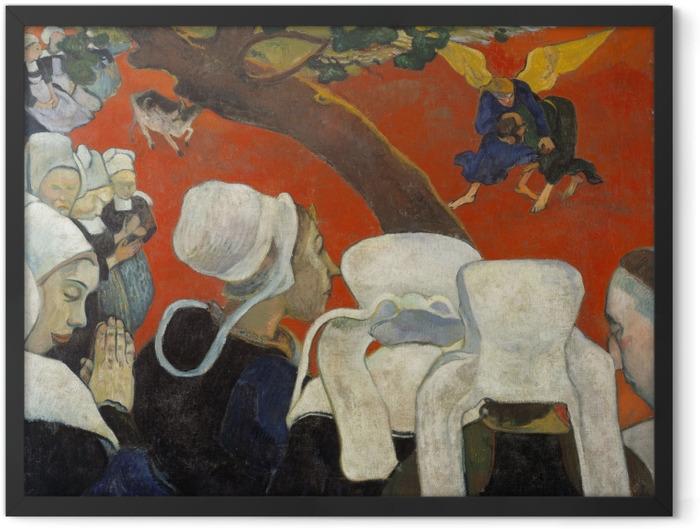 Poster en cadre Paul Gauguin - Vision après le sermon - Reproductions