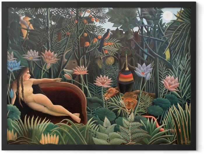 Plakat w ramie Henri Rousseau - Artysta malujący swoją żonę - Reprodukcje
