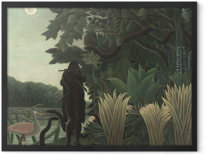 Plakat w ramie Henri Rousseau - Zaklinaczka węży - Reprodukcje