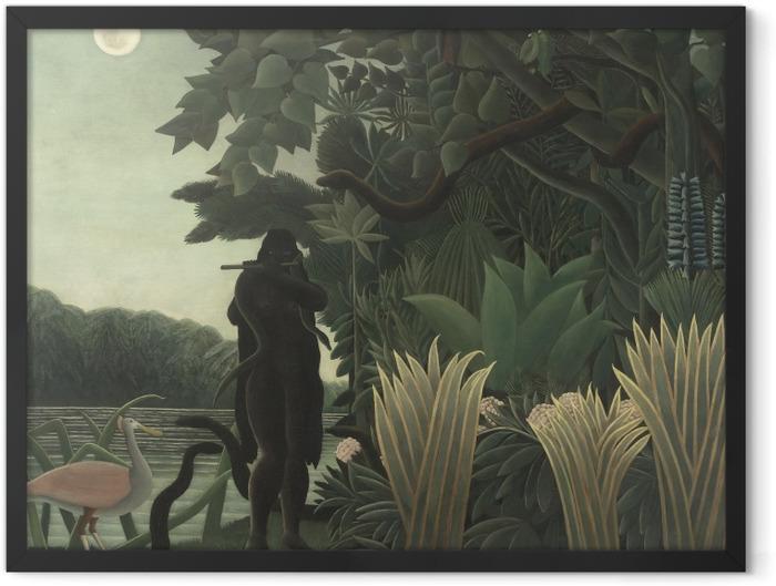 Poster en cadre Henri Rousseau - La Charmeuse de serpents - Reproductions