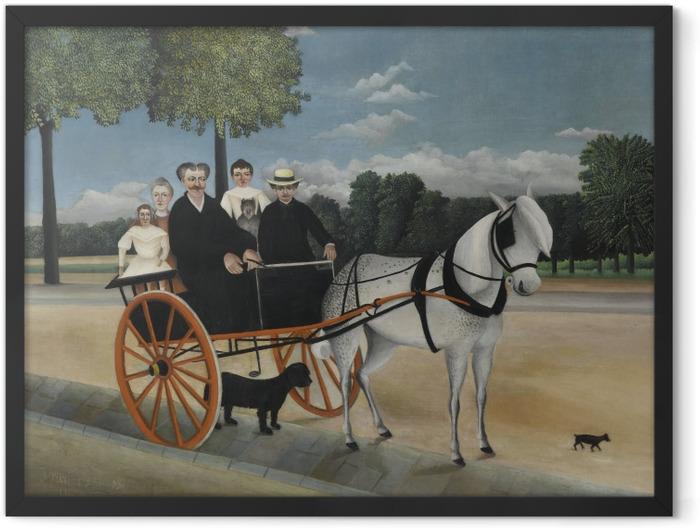 Gerahmtes Poster Henri Rousseau - Die Kutsche von Père Junier - Reproduktion