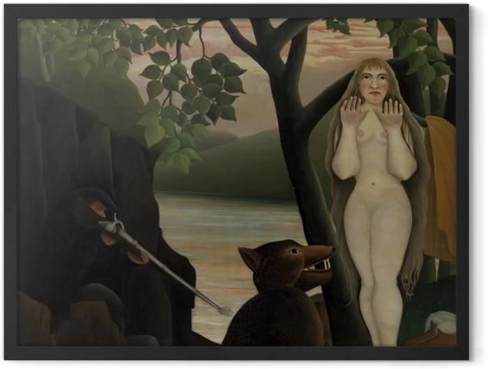 Poster en cadre Henri Rousseau - Mauvaise surprise - Reproductions