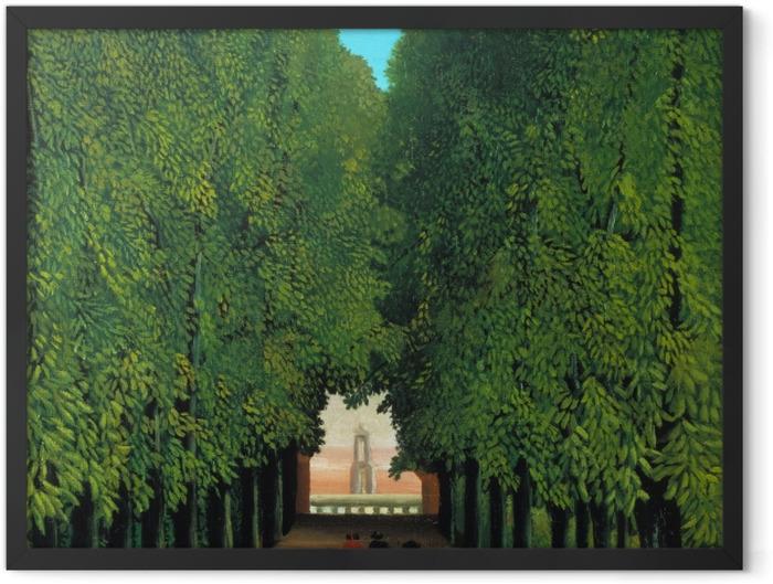 Gerahmtes Poster Henri Rousseau - Die Allee im Park von Saint-Cloud - Reproduktion