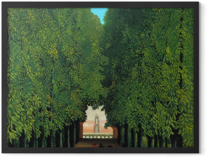 Plakat w ramie Henri Rousseau - Aleja w parku Saint-Cloud - Reprodukcje
