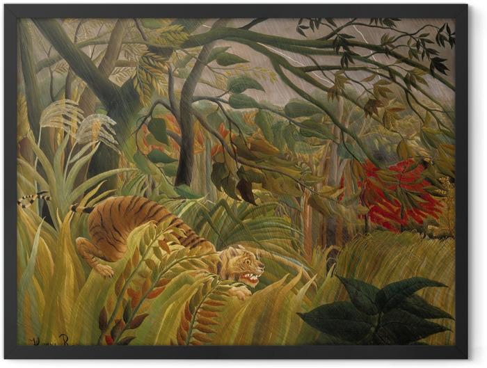 Poster en cadre Henri Rousseau - Tigre dans une tempête tropicale (Surpris!) - Reproductions
