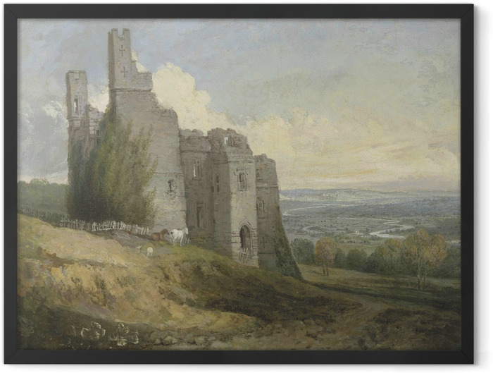 Gerahmtes Poster William Turner - Conwy Castle - Reproduktion