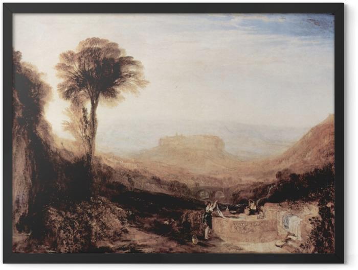 Poster en cadre William Turner - Vue d'Orvieto, paint à Rome - Reproductions