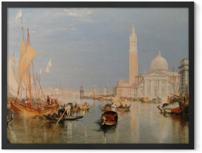 Plakat w ramie William Turner - Dogana i San Giorgio Maggiore - Reprodukcje