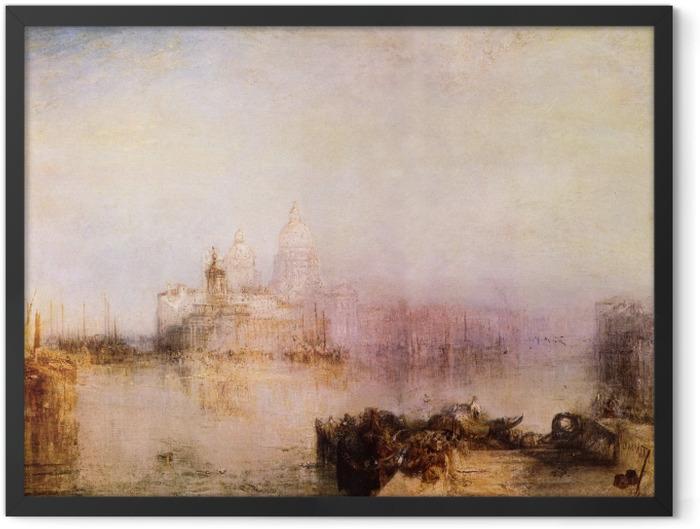 Gerahmtes Poster William Turner - Dogana und Santa Maria della Salute in Venedig - Reproduktion