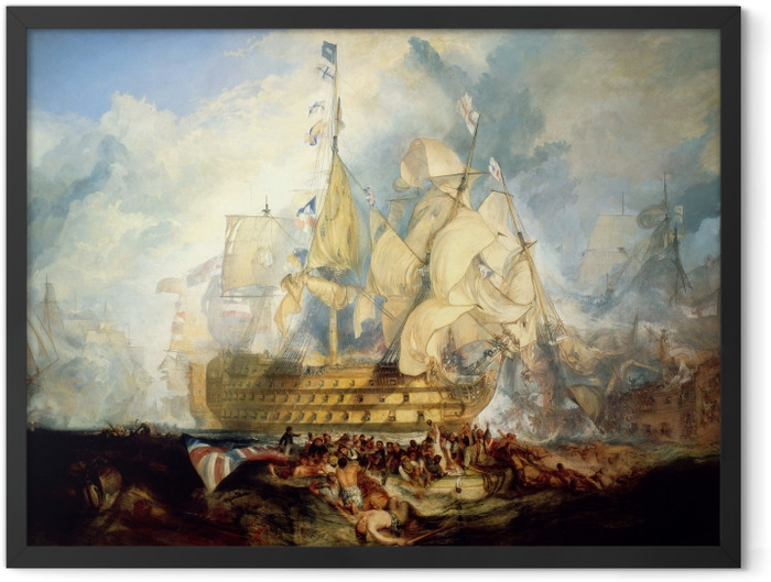 Poster en cadre William Turner - La bataille de Trafalgar - Reproductions