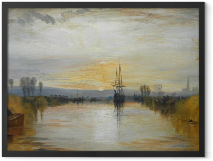 Poster en cadre William Turner - Canal de Chichester - Reproductions