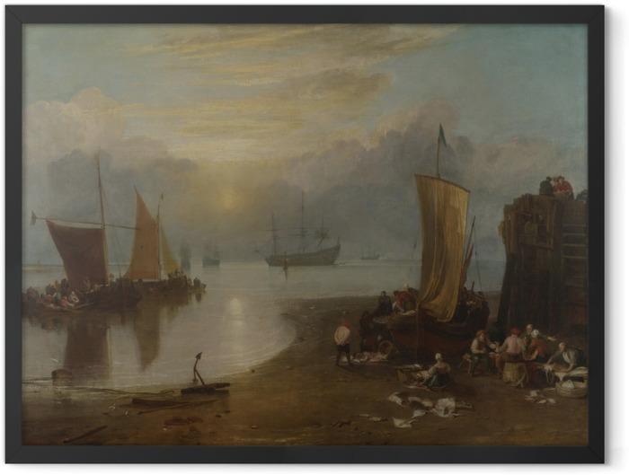 Poster en cadre William Turner - Lever de soleil dans la brume - Reproductions