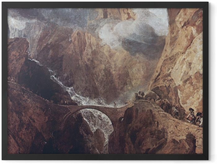 Poster en cadre William Turner - Col du Saint-Gothard - Reproductions