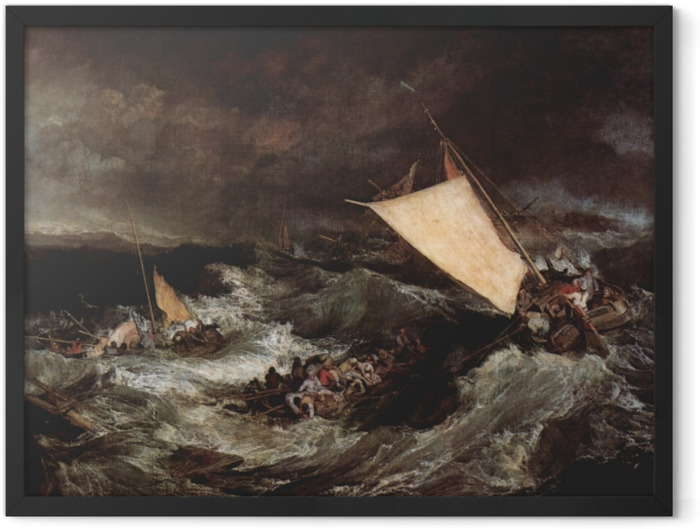 Poster en cadre William Turner - Le Naufrage - Reproductions