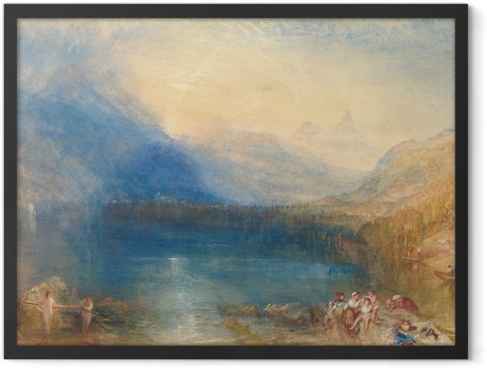 Plakat w ramie William Turner - Jezioro Zug wczesnym rankiem - Reprodukcje