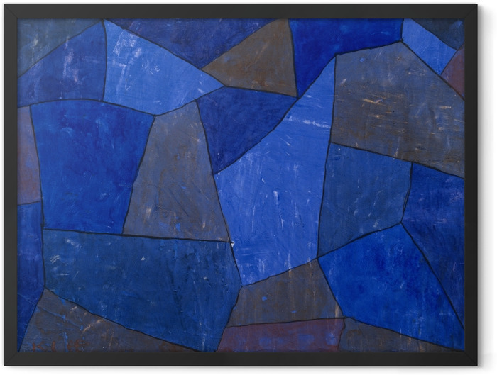 Plakat w ramie Paul Klee - Skały nocą - Reprodukcje