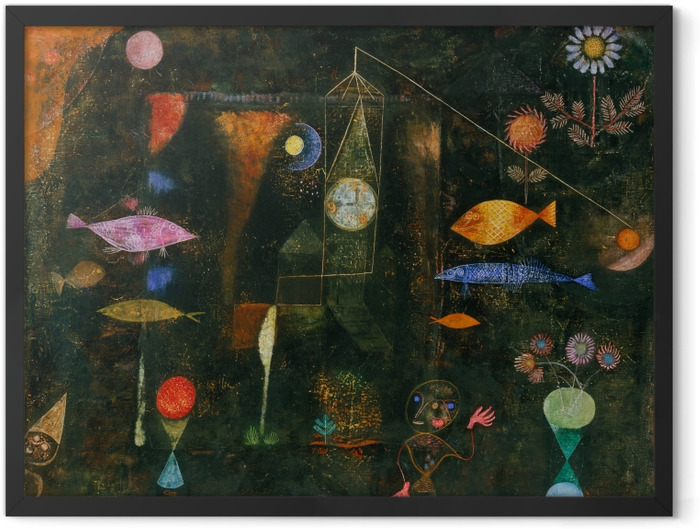 Gerahmtes Poster Paul Klee - Fischzauber - Reproduktion