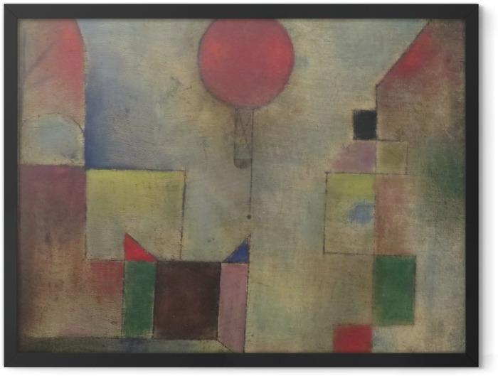 Poster en cadre Paul Klee - Le Ballon rouge - Reproductions