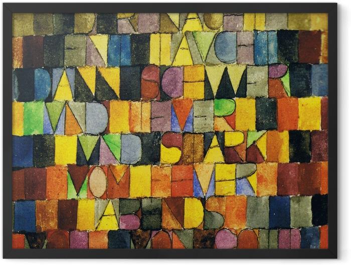 Poster en cadre Paul Klee - Jadis surgi du gris de la nuit - Reproductions